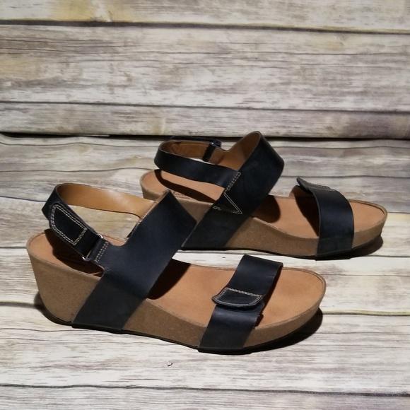 76cacf54638 Clarks Shoes - NWOT Clarks Black Wedge Sandal size 10